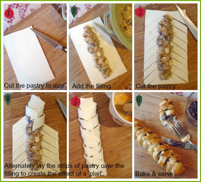 How to make savoury vegetarian pastry plaits