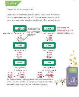 Respuestas Apoyo Primaria Desafíos Matemáticos 4to. Grado Bloque IV Lección 72 Cambiemos decimales