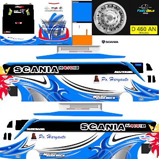 Download Livery Bus Po Haryanto Scania
