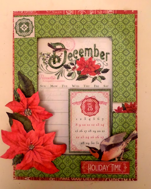 Time To Flourish Decorative Frame December Clare Charvill Jones Crafts Graphic 45