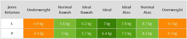 Tabel Berat Badan Bayi Usia Empat Bulan