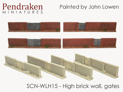 SCN-WLH15   High brick walls, gates (4 pieces)