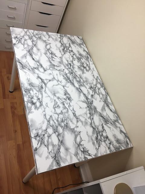 marble table DIY