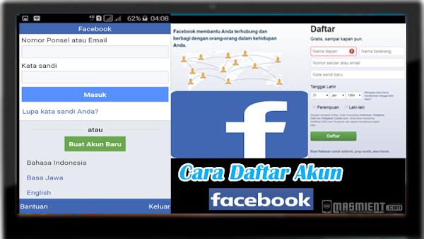 Cara Membuat Facebook Baru  Lewat Hp Android dan Komputer