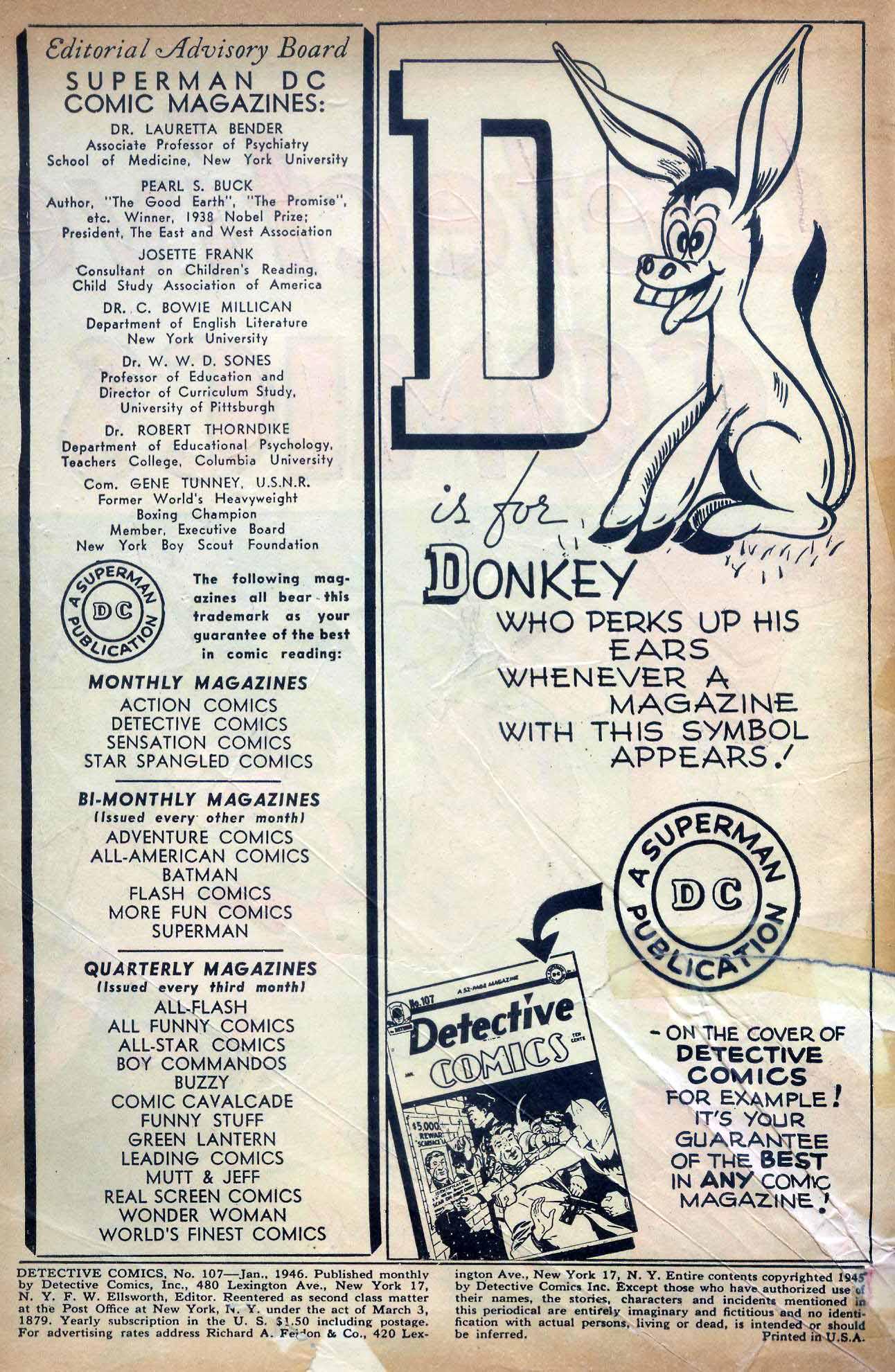 Detective Comics (1937) 107 Page 1