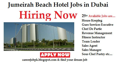 Hotel jobs in Dubai in Jumeirah Beach Group Hotel