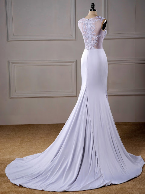 Sexy Scoop Trumpet/Mermaid Floor-Length Sleeveless Beading Court Train Wedding Dress
