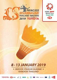Jadwal Thailand Masters 2019