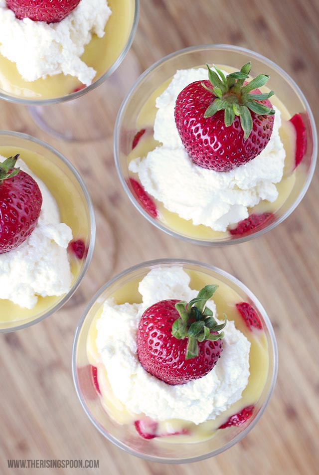Strawberry Shortcake & Lemon Curd Parfait
