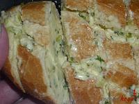 Corte del pan untado