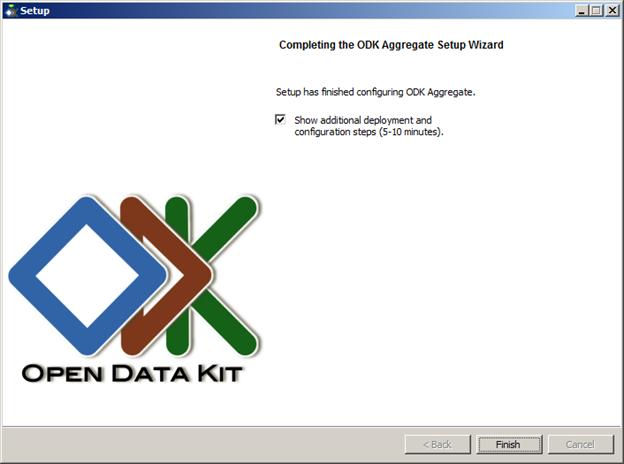 odk aggregate configuration success