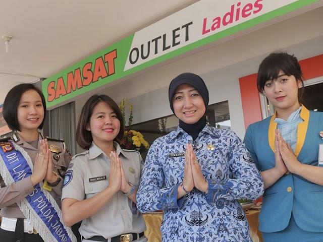 Bapenda Jawa Barat Hadirkan Layanan Samsat Outlet Ladies