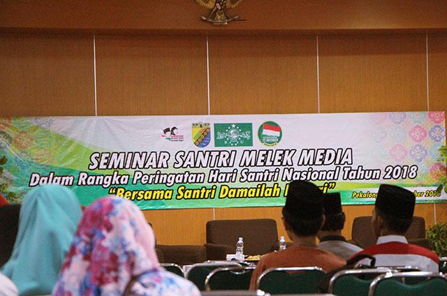 Seminar Santri Melek Media, Memperingati Hari Santri Nasional tahun 2018, Bersama Santri Damailah Negeri