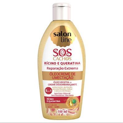 S.O.S Cachos - Óleocreme Multifuncional Rícino e Queratina Reparação – 100ml