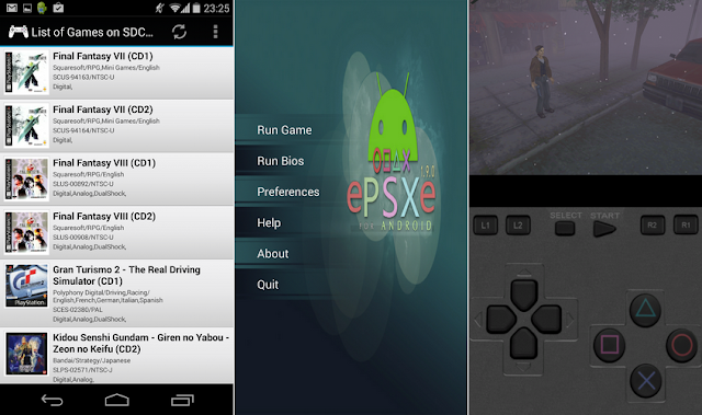 Tampilan Aplikasi ePSXe For Android