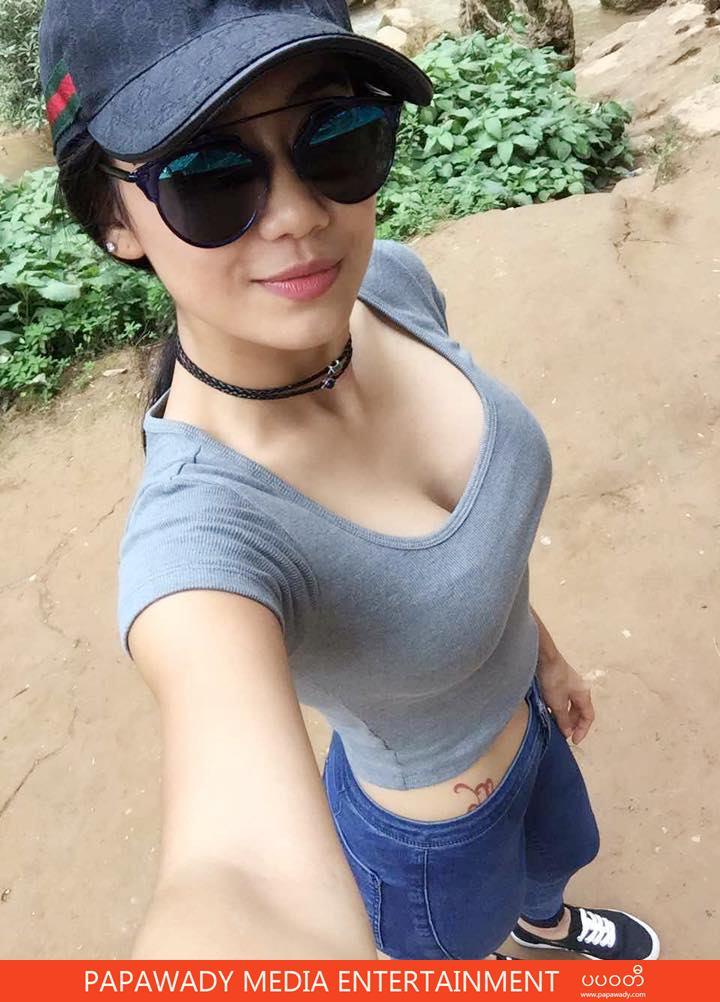Thinzar Wint Kyaw Wearing Sunglass and Fashion Hat In Her Selfie Shots