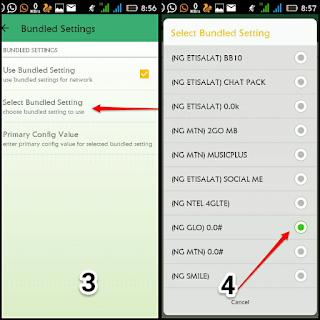 Glo unlimited browsing stable tweakware settings