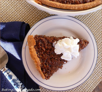 Nutella Krisp Pie, a nutella based filling with a few surprise ingredients in this delicious dessert. | Recipe developed by www.BakingInATornado.com | #recipe #dessert #pie