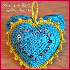 Corazones rellenos a crochet