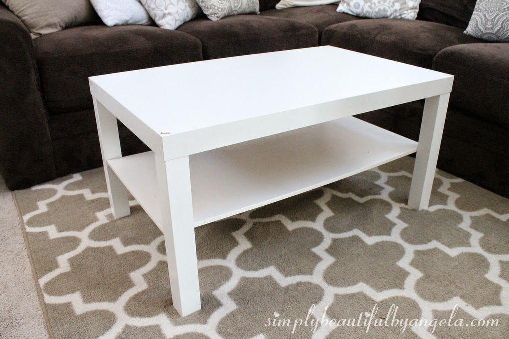 Simply Beautiful by Angela: IKEA Lack Coffee Table Hack
