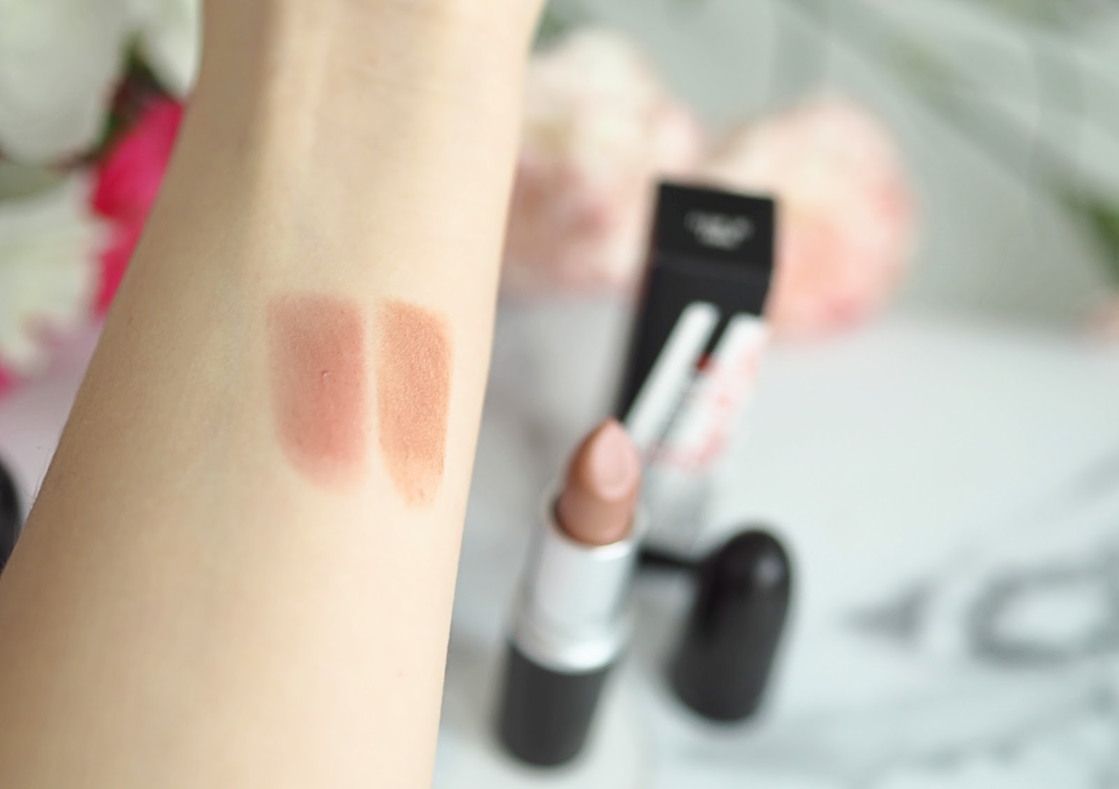 lipstick swatches Mac collaboration with Fleur de Force and Alessandra Steinherr