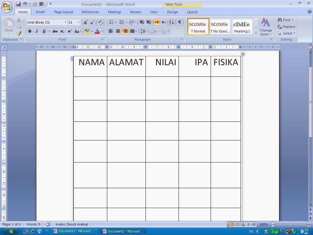 Lutfi Maulana Blogspot Cara Menggabungkan Garis Table Di Ms Word Lengkap Gengan Gambar