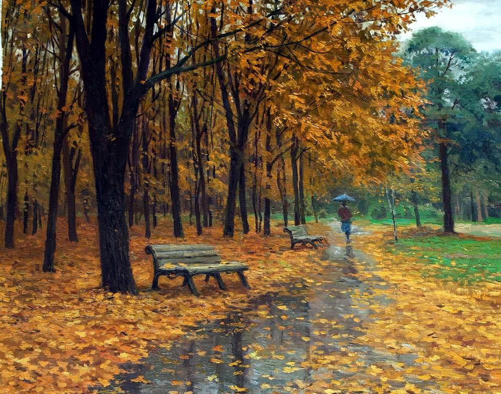Коллекция картинок: Осенний дождь в живописи