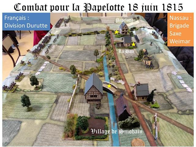 Combat de la Papelotte 1815 (Waterloo) Positions%2Binitiales%2Bla%2Btable