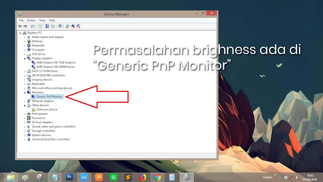 Generic PnP Monitor dalam keadaan disabled