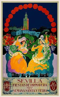 Cartel de las Fiestas de Primavera de Sevilla 1917 - Gustavo Bacarisas Podestá
