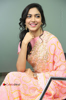 Actress Ritu Varma Pos in Beautiful Pink Anarkali Dress at at Keshava Movie Interview .COM 0202.JPG