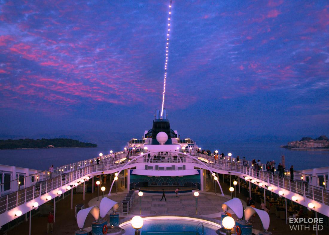 MSC Musica docked in Corfu