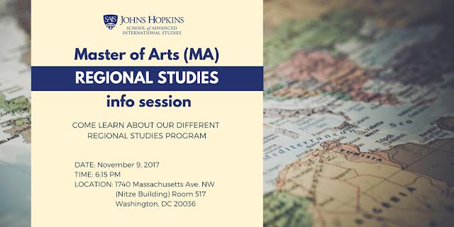 Master of Arts Regional Studies Program