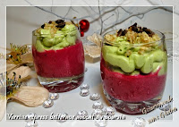Verrine de Noël betterave avocat