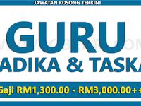 Jawatan Kosong Guru Tadika & Taska - Pelbagai Lokasi / Gaji RM1,300.00 - RM3,000.00++