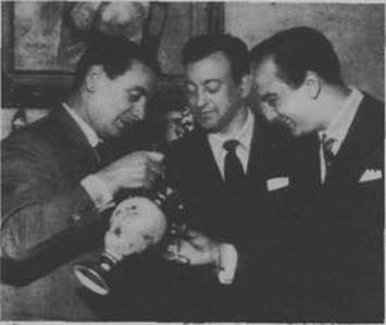 Alfredo De Angelis con sus cantores Juan Carlos Godoy y Roberto Florio