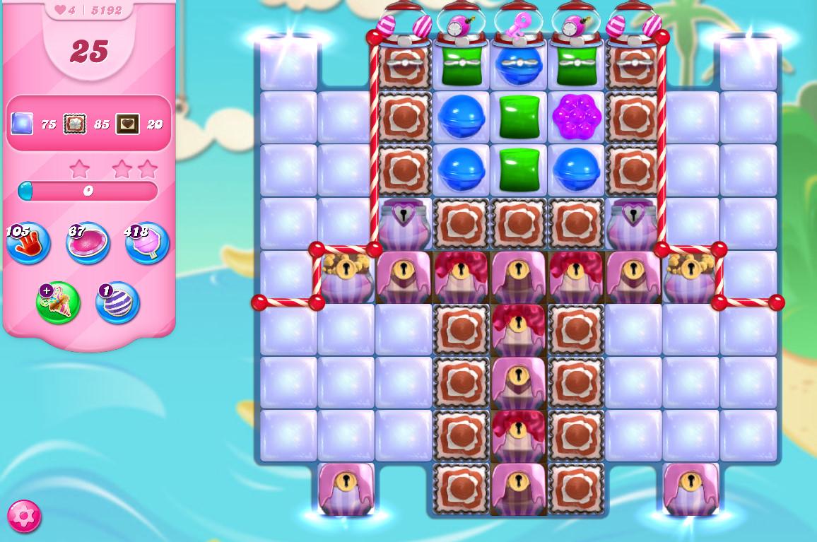 Candy Crush Saga level 5192