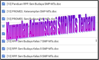 Download Kumpulan File Administrasi SMP/MTs Tahun 2018/2019