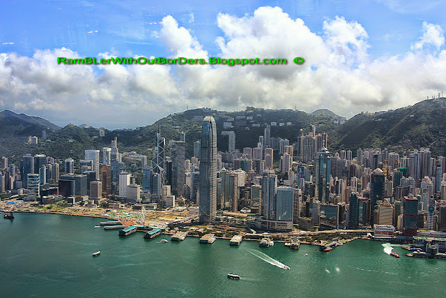 Aerial view from Ozone Bar, Hong Kong Central, CBD, Hong Kong