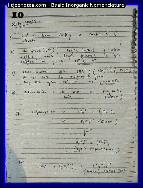 Inorganic Nomenclature10