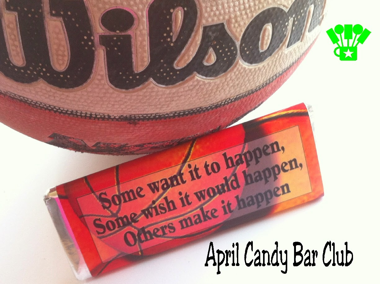 Basketball Candy Bar Wrapper by Kandy Kreations