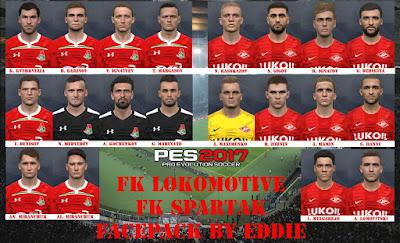 PES 2017 Facepack Lokomotive & Spartak Moskva by Eddie Facemaker