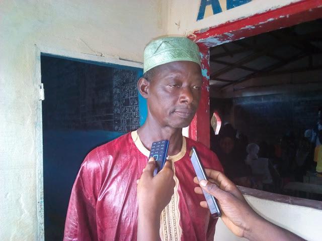 Monsieur  Ibrahima Sory Camara chef de secteur adjoint de  Kourssi