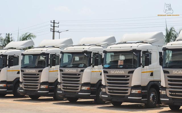 Scania Trucks at Scania India Bengaluru   Biswajit SVM Chaser