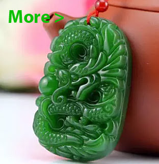 Natural Green Hetian Jade Pendant