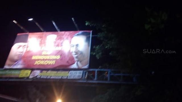 Kakek Karmin Gantung Diri di Belakang Baliho Jokowi