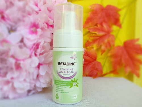 Review Betadine Feminine Wash Foam Fresh and Active
