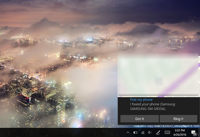 cortana find and ring windows phone