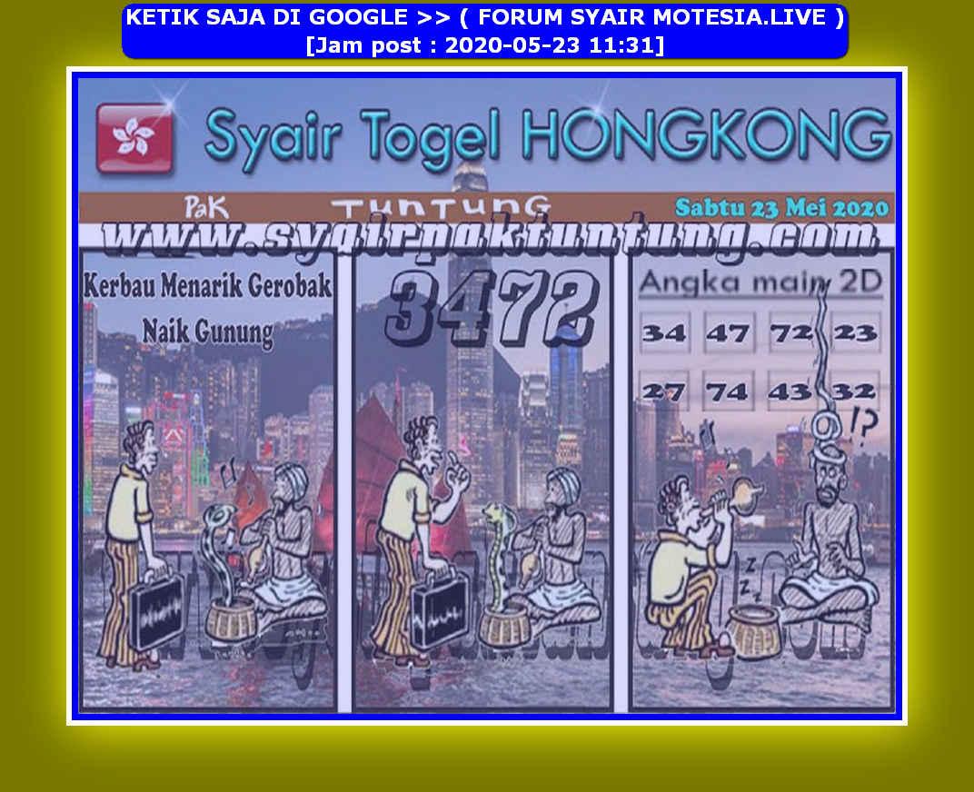 Kode syair Hongkong Sabtu 23 Mei 2020 121