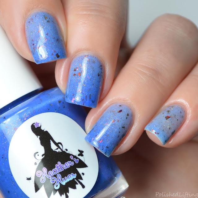 blue to white thermal nail polish
